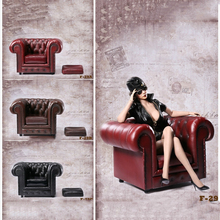 1/6 Scale Figures Sofa Models Scene Accessories British Single Style Red Black and Brown
