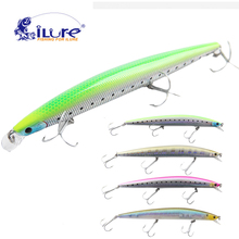 iLure Sea curls fishing bait minnow 30g 17.5cm fishing bait ball glass Pesca Hook VMC owner fishing tackle crankbait jerkbait(China)