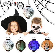 JOY-ENLIFE Halloween Theme LED Paper Lantern Lamp Cool Black Cloth Steeple Hat Costume Accessory Outdoor Party Halloween decor