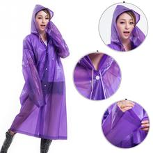 Long ECO raincoat women transparent rain coat poncho hoodie raincoat portable rainwear summer raincoat for hiking travel outdoor(China)
