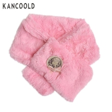Garment 60cm*80cm baby girls  Pink Kids Winter Retro Scarf Girls infants Coral Velvet Neck Collar Warmer Neckerchief