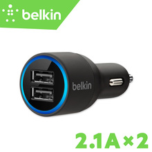 2.1A*2 Belkin Original Universal Mobile Phone Two Ports USB Car Charger for iPhone 7 6s Plus for iPad with Package F8J109(China)
