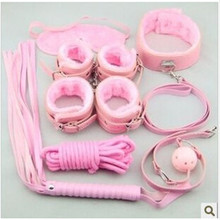 sets of alternative toys Sexy leather products set pink 7 adult products manufacturers(China)