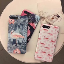 Cartoon Flamingo Pink Bird Case Cover For iPhone 7 7plus Case IMD Quality Soft TPU Fundas for iPhone 6 6s 6plus 6splus