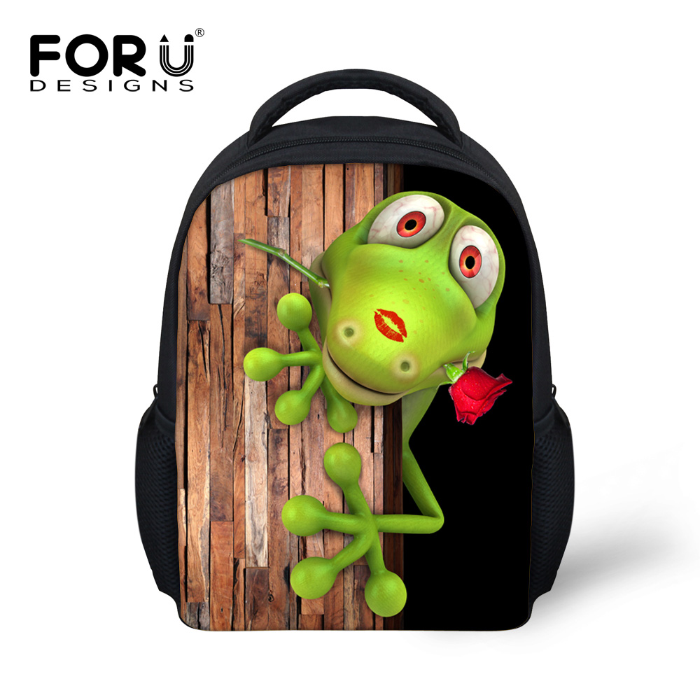 FORUDESIGNS 12-inch Backpack 3D Printing cartoon for women/men Most popular 3D animal pictures Backpack  Personalized Backpack<br><br>Aliexpress