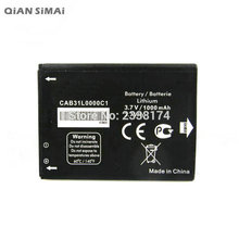 QiAN SiMAi 1pcs 100% High Quality CAB31L0000C1 Battery For Alcatel i808 / TCL T66 A890 Mobile Phone + Tracking Code(China)