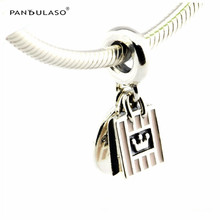 Shopping Queen Pink Enamel Beads Fit Pandora Charms Silver 925 Original Bracelet 2016 New Beads for Jewelry Making Fashion DIY