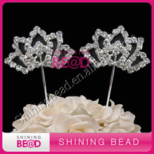 fashion clear rhinestone cake topper,wedding party decor,free shpping,high quality(China)
