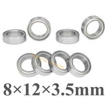 Steel Roller Ball Bearings 8x12x3.5 mm 8P For RC Model Car HSP 86083 Himoto E18 1/18 Parts 23627
