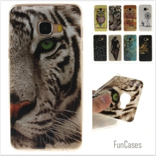 Cartoon High Quality Glossy Soft TPU Silicon Protector Owl Tiger Phone Case for Samsung Galaxy C5 C5000