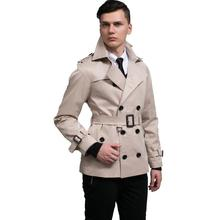 YIYELANZHOU 2019 designer slim sexy short trench coat overcoat long sleeve mens