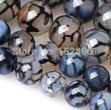 Black and white dragon  beads  crystal beads 10mm *natural  and semi round fashion*