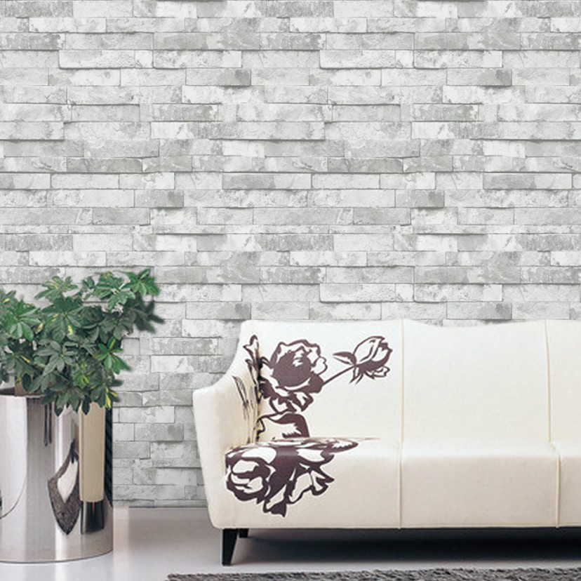 Kitchen Background Wallcovering Design Brick PVC Wallpaper Vinyl 3D Effect Brick Wall Paper Bathroom,Dinning Room Decorative<br>