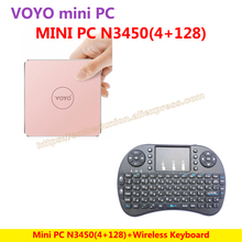 VOYO VMac Mini PC V1 Windows 10 Pocket PC(4GB RAM+128GB SSD) Intel Lake Apollo N3450+Wireless Keyboard=N3450 KIT-E-A