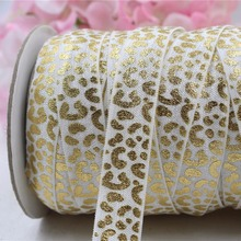 165949,5 / 8''16MM Leopard thermal printing elastic band 10 yards handmade DIY hair material, free shipping.(China)