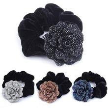 Big Rose Flower Cloth Headband Hair Rope Charm Hair Circle Top Selling DIY Hair Accessories For Women Lady Girls D1