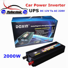 Hot Sale 2000Watt UPS Power Inverter With Charger 2000W DC 12V to AC 220V Modified Sine Wave Inverter With Battery Charger
