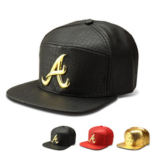 New Fashion Mens Hip Hop Superstar Alumni A letter Baseball Cap PU Leather Casual Unisex Snapback Men Gold/Black/Red Snapback(China)