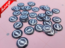 100pcs Free shipping 14MM Opel Car logo auto Key Fob Emblem Badge Radio button Sticker(China)