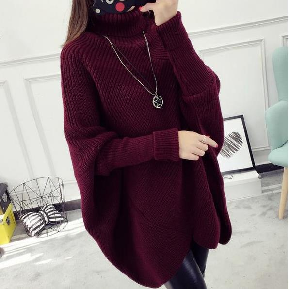 loose pullover Plus Size Women's Bat Sleeves