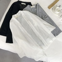 new-fashion-women-Three-Quarter-sleeve-loose-Thin-cardigan-all-match-sunscreen-clothing-female-Chiffon-short.jpg_200x200