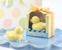 New arrival baby shower favor gift Cute duck scented soap savon wedding soap favors wedding gifts Retail Box 20pcs/lot