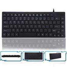 Compact design K3M Wired Keyboard Universal Waterproof Office Keyboard for Windows XP/7/8Vista 8.85inch