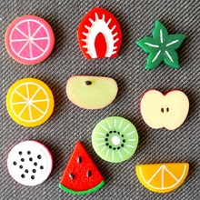 Fridge Magnet Aimant Magnets Imanes de nevera Calamite da frigo Magnetic Refrigerator Magnets 3D Cute Fruit Message stickers 1pc