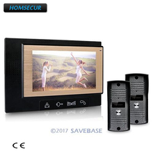 "HOMSECUR Luxury 7"" Video Door Phone Intercom System With 700TVL Camera For Villa House(China)"