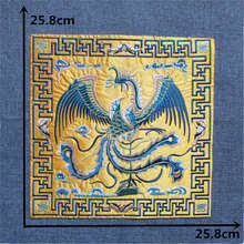 high quality yellow phoenix patches Hot melt patches clothes down jacke embroidery patch DIY clothing decorate 1pcs for sale