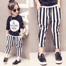 girls spring clothing suit black shirt letter printed and striped long pants chidlren's tracksuit for 2-7y baby kid outwear