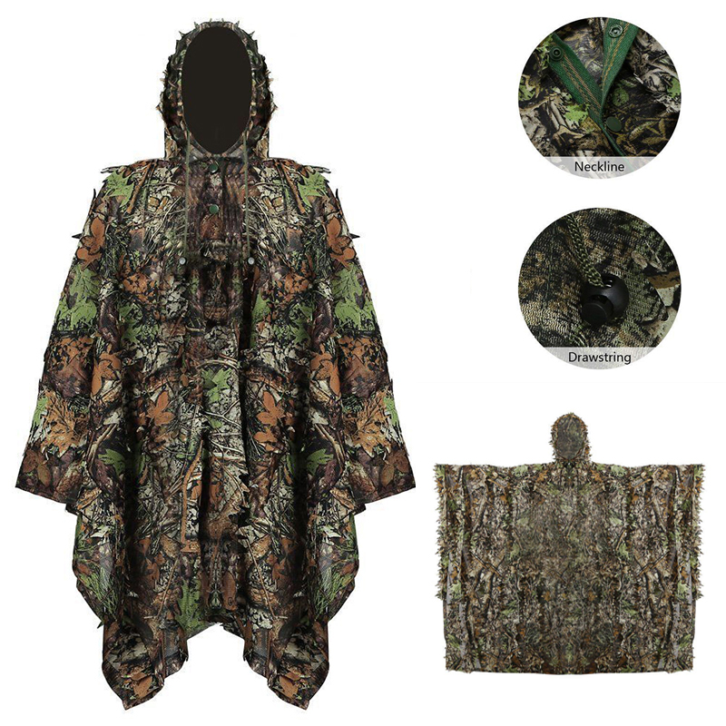 Costume Props Costumes & Accessories 32852 High Quality And Inexpensive Tactical Military 3d Camouflage Net Cloak