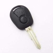 Remote Key Case Fob Shell for Ssangyong Actyon SUV Kyron Rexton 2 Button Blank Key Cover Car Styling NO LOGO(China)