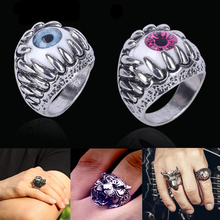 LNRRABC 1pc New Fashion Punk Men Cool Finger Rings Stainless Steel Gothic Jewelry Personality Novelty(China)