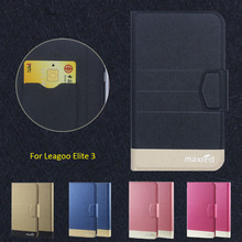 New Top Hot! Leagoo Elite 3 Case,5 Colors High quality Full Flip Fashion Customize Leather Luxurious Phone Accessories