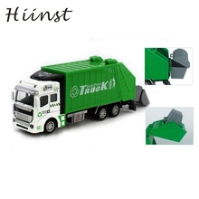 HIINST Green 1:48 Back In The Toy Car Garbage Truck Toy Car A Birthday Present Alloy large dump truck 22X5.5X8cm  P23 Ag15 gift