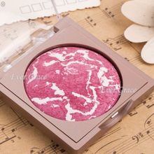 ICYCHEER Rose Red Makeup Baked Blusher Palette Soft Natural Face Blush Powder Highlight
