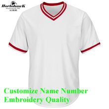 Horlohawk 2017 New Baseball Jersey Custom Embroidery Name Number Logo US Size Men's Grey Red White Camo Jersey(China)