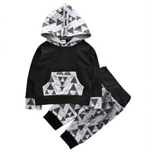 2pcs!Autumn Spring triangle set Newborn Toddler Kids Baby Boys Outfits Clothes Hoodies sweatshirts Tops+Pants Set - Babywow Store store