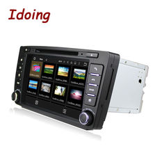 8Inch Idoing 2din Android5.1 Quad Core Car Navigation System 1g Ram Built-in Canbus Wifi Bluetooth Disc For VW Skoda Octervia
