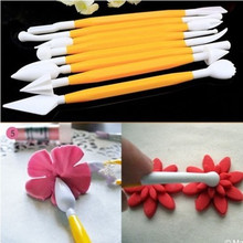 8 PCS Fondant Cake Decorating Tools Knife Pen Mold  Baking Bone leaf Serrated Flower Carving Pen Tool Kitchen Accessories