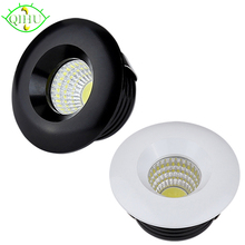 LED Spot Lamps Mini Downlights 3W Dimmable Recessed Down Lights 110V 220V Cabinet Indoor Ceiling Display Jewelry Lighting