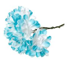 "Paper Artificial Chrysanthemum Flower Decoration Millinery Blue 9.0cm(3 4/8""),1 Packet(Approx 144 PCs/Packet)"