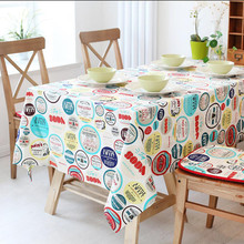 Modern Cotton&Linen Table Cloth Cartoon Dining Tablecloth for Christmas Festival Decoration Printed Coffee Table Covers