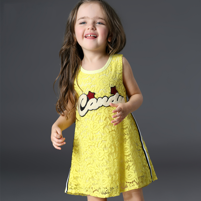 Girl Summer Dress Toddler Dress Baby Girls Candy Color Dresses 2017 Kids Lace Dress For Princess Girl Childrens Clothes 2 5 Year<br>