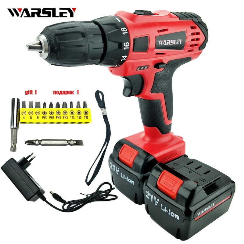 21v power tools electric Drill Electric Cordless Drill  Batteries Screwdriver Mini Drill electric drilling Lithium-Ion Europlug<br>