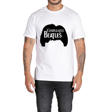 Rocksir the band series white t-shirt men The beatles classic design completely beatles hair summer fashion men's clothing