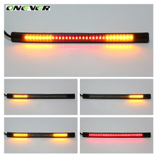 Onever Vehicle led motorcycle light Flexible 32 LED Motorcycle Led Turn Signal Strip ATV Tail Brake Stop Light Car-styling