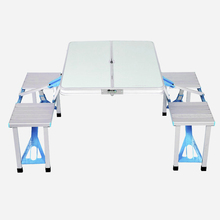 Outdoor Folding Table Camping Aluminium Alloy Picnic Table Handhold Durable Desk Furniture For Picnic Party Dining
