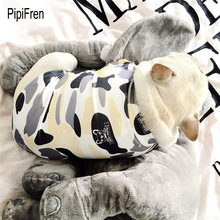PipiFren Spring Summer Dogs Clothes T Shirts In French Bulldog For Pets Clothes Vest Pug Clothing Dog chemise chien hundeshirt